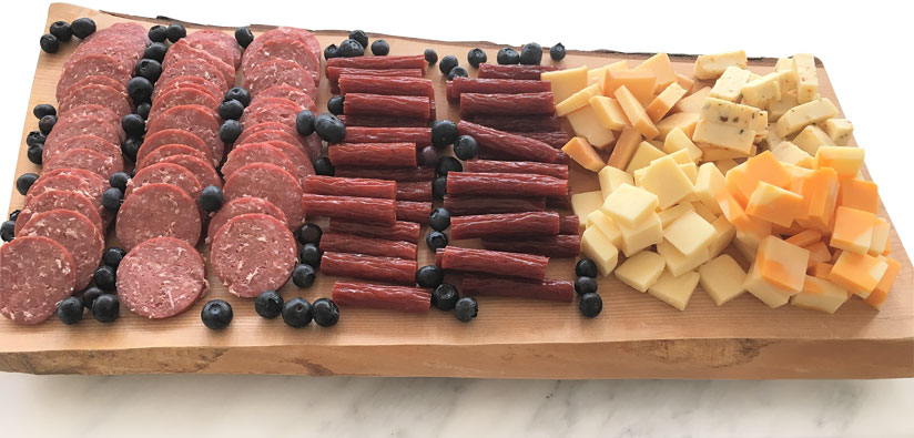 Sausage Pepperoni and Cheese Tray